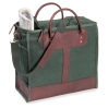 Zip Top Tote. Green. Oat Meal